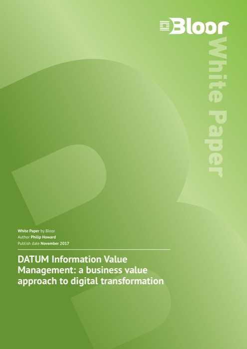 Cover for DATUM Information Value Management - a business value approach to digital transformation