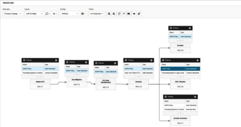 Figure 2 – A process map of policies in Informatica Axon