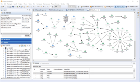 Fig 1 Viewing data relationships in Topaz for Enterprise Data