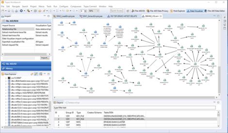 Fig 1 Viewing data relationships in Topaz for Enterprise Data