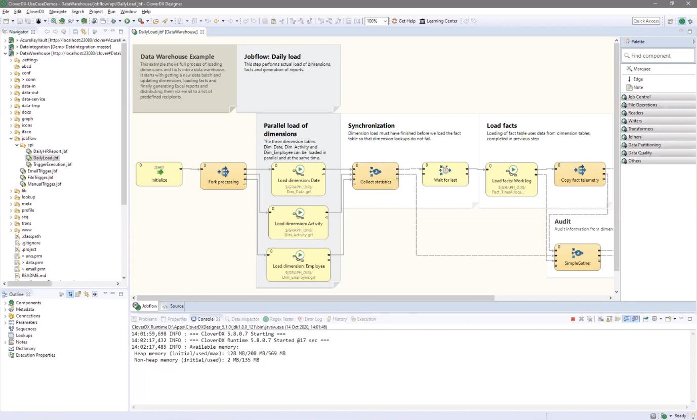 Fig 01 - Example job creation in CloverDX Designer