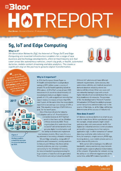 Cover for 5G, IoT and Edge Computing - Critical enablers for Industry 4.0