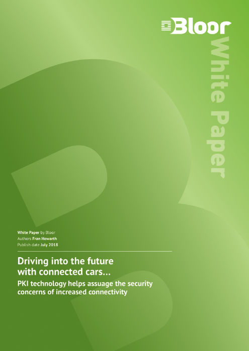 Cover for Driving into the future with connected cars - PKI technology helps assuage the security concerns of increased connectivity