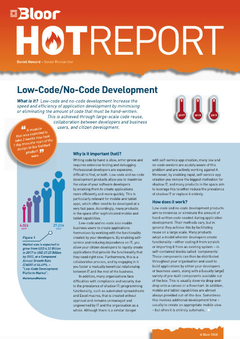 Cover for Low-Code/No-Code Development