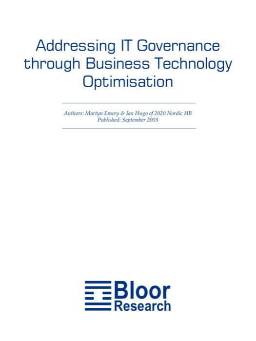 Addressing IT Governance through BTO – Bloor Research