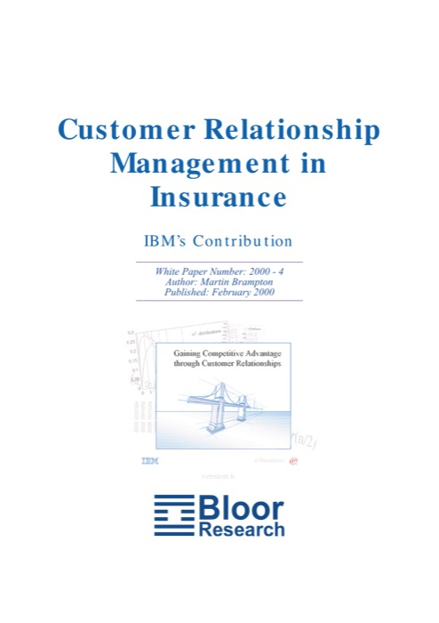 Cover for Customer Relationship Management in Insurance