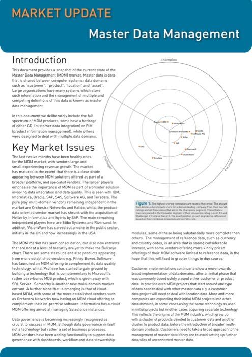 Cover for Master Data Management Market Update – 2013