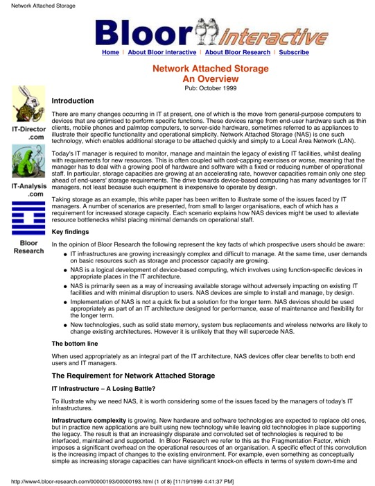 Cover for Network Attached Storage