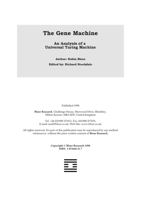 Cover for The Gene Machine
