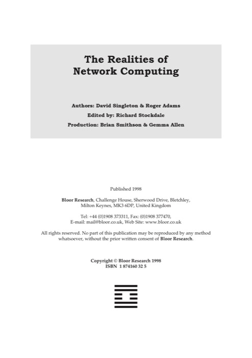 Cover for The Realities of Network Computing