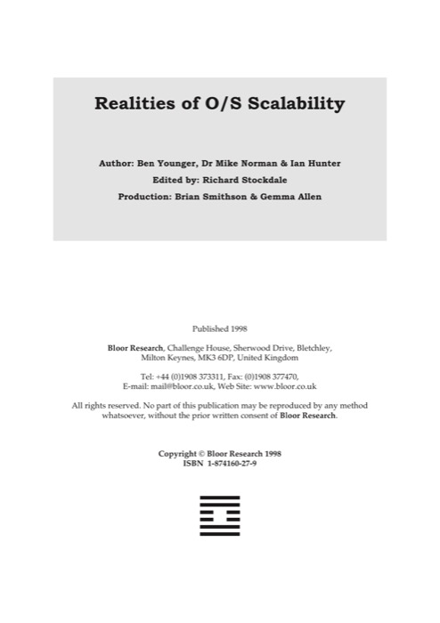 Cover for The Realities of O/S Scalability