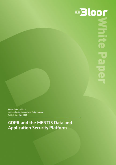 Cover for GDPR and the MENTIS Data and Application Security Platform