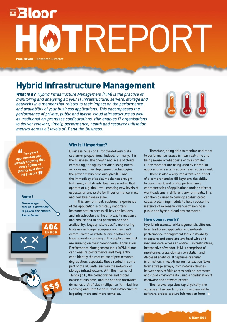 Cover for Hybrid Infrastructure Management