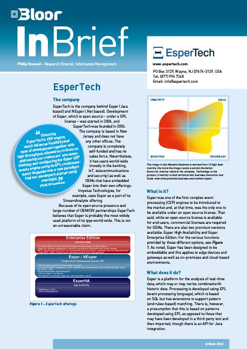 Cover for EsperTech
