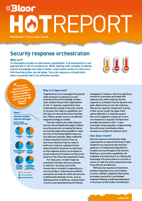 Cover for Security Response Orchestration