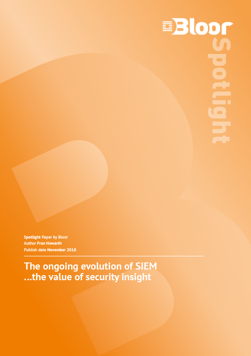 Cover for The ongoing evolution of SIEM - the value of security insight