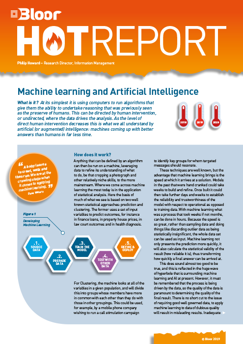 Cover for Machine Learning and Artificial Intelligence