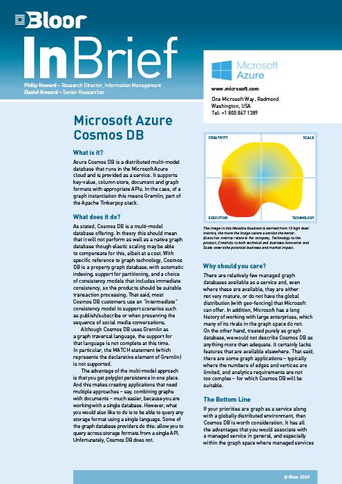 Microsoft Azure Cosmos DB – Bloor Research
