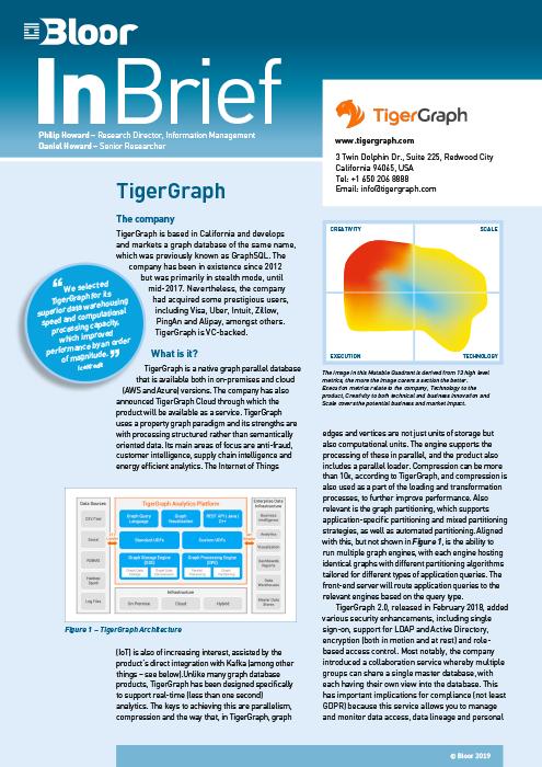 Cover for TigerGraph