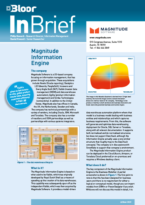 Cover for Magnitude Information Engine