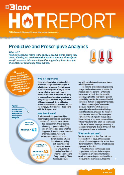 Cover for Predictive and Prescriptive Analytics