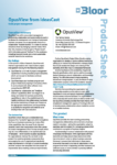 Cover of OpusView product sheet
