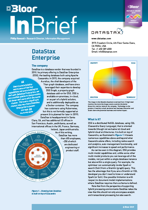 Cover for DataStax Enterprise