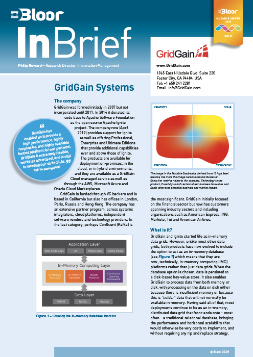 Cover for GridGain Systems