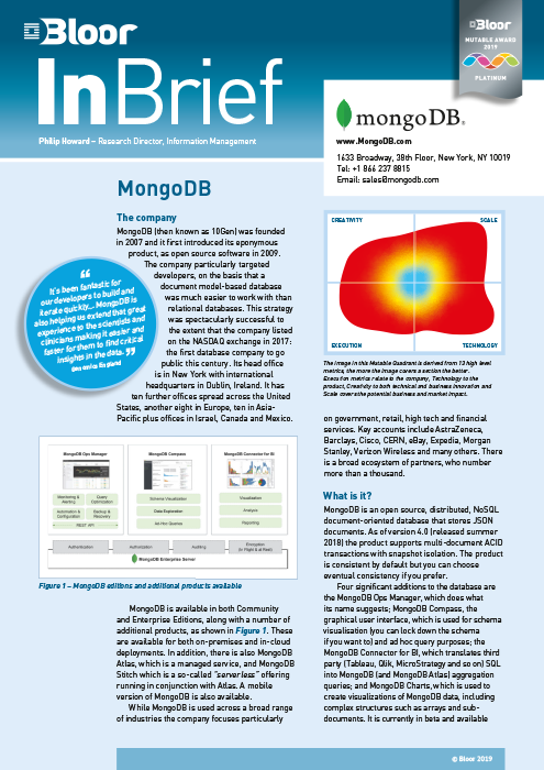 Cover for MongoDB