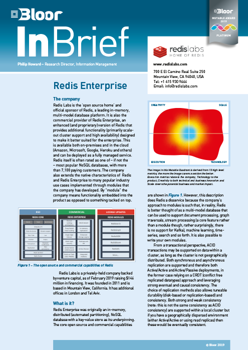 Cover for Redis Enterprise