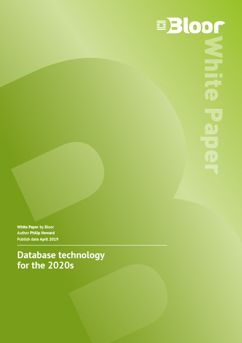 Cover for Database technology for the 2020s