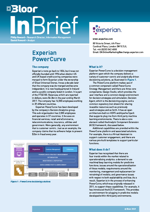 Cover for Experian PowerCurve