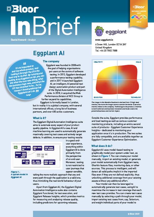 Cover for Eggplant AI