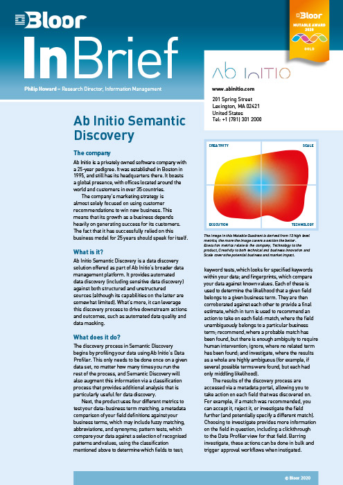 Cover for Ab Initio Semantic Discovery