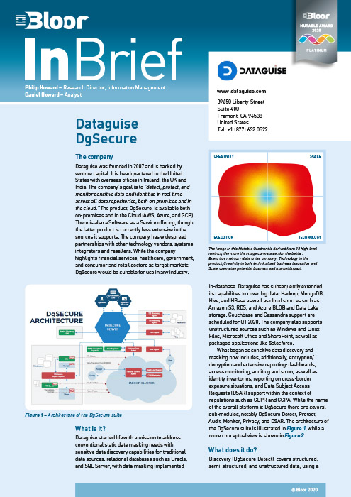 Cover for Dataguise DgSecure