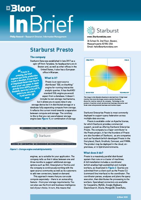 Cover for Starburst Presto