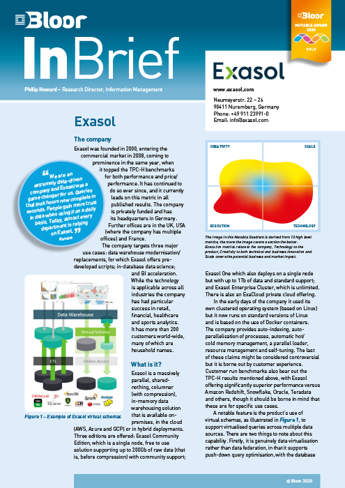Cover for Exasol