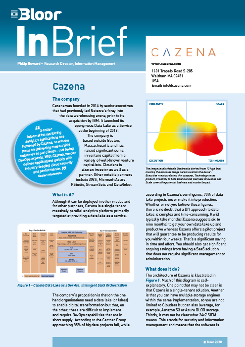 Cover for Cazena