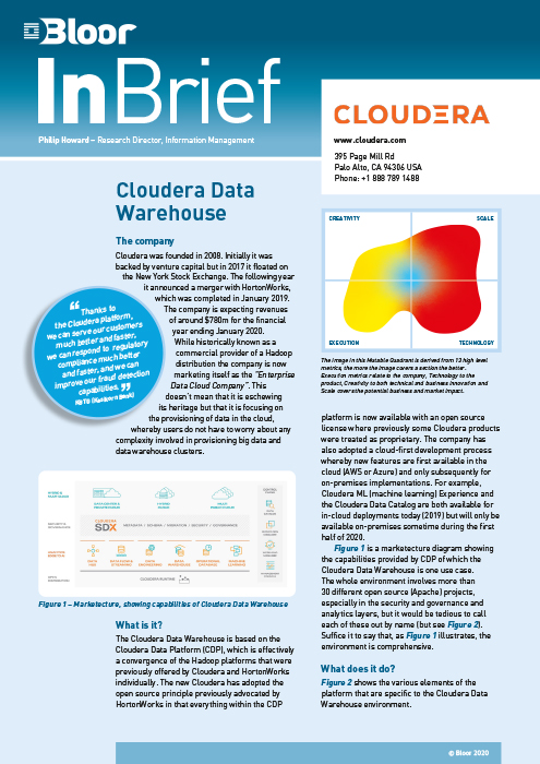 Cover for Cloudera Data Warehouse