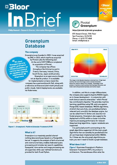 Cover for Greenplum Database