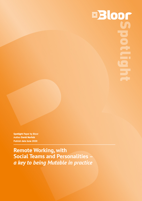 Cover for Remote working, with Social Teams and personalities - A key to being Mutable in practice