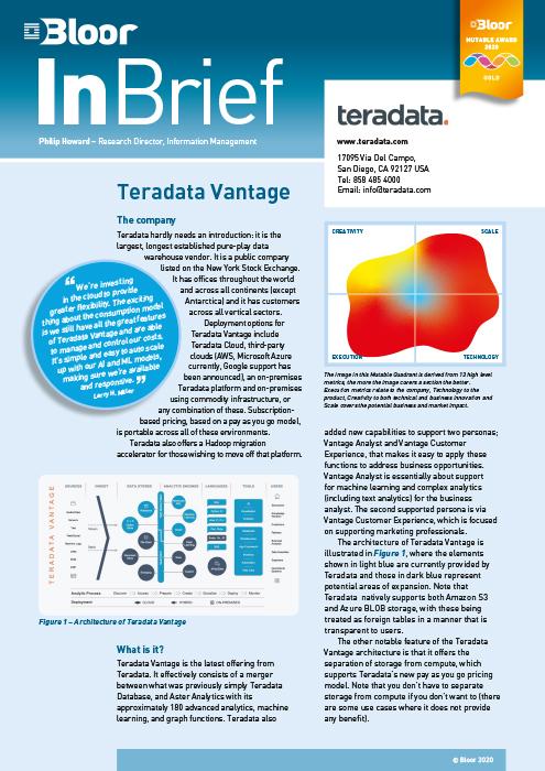 Cover for Teradata Vantage