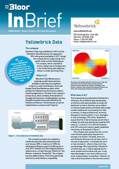 Cover for Yellowbrick Data
