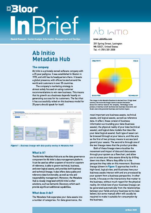 Cover for Ab Initio Metadata Hub