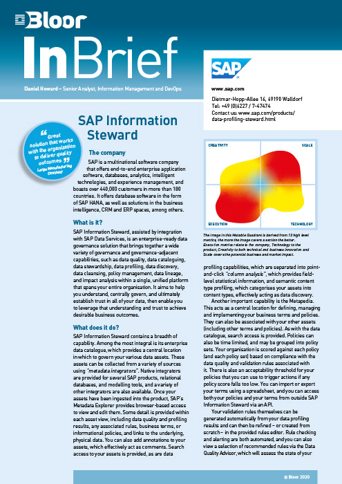 Cover for SAP Information Steward