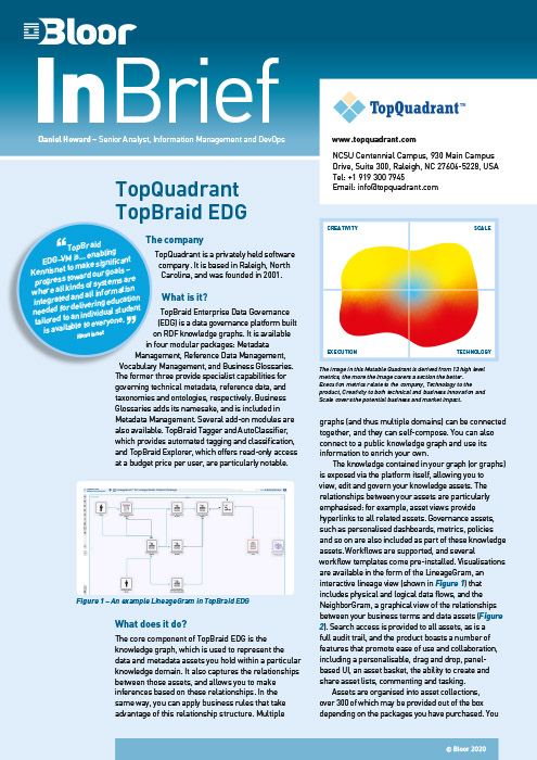 Cover for TopQuadrant TopBraid EDG