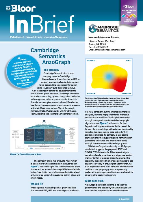 Cover for Cambridge Semantics AnzoGraph (2020)
