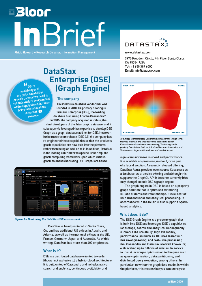 Cover for DataStax Enterprise (DSE) (Graph Engine)