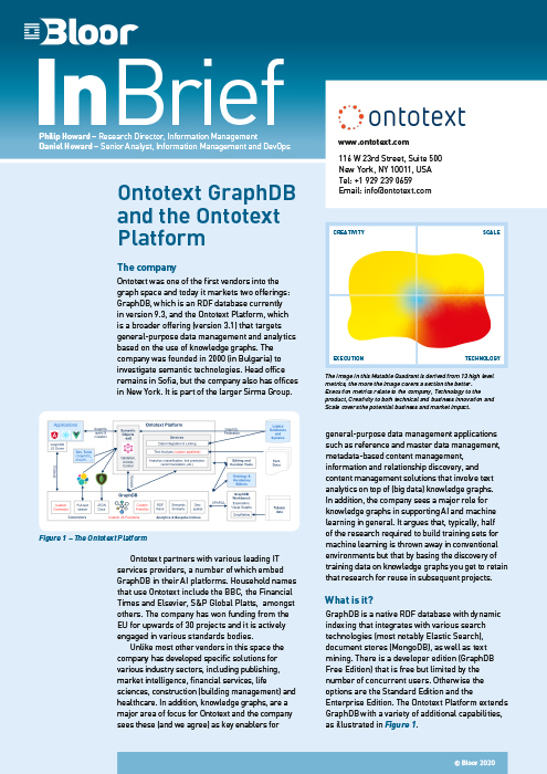 Cover for Ontotext GraphDB and the Ontotext Platform