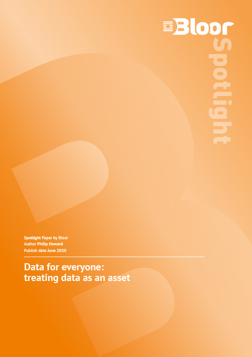 Cover for Data for everyone: treating data as an asset